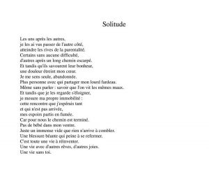 "Texte ""Solitude"""